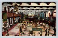 Riverside CA, Glenwood Mission Inn, Music Room, Vintage California Postcard X72