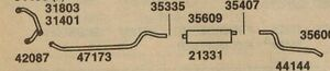 1960-1966 CHEVY TRUCK WITH 283 SINGLE EXHAUST, ALUMINIZED (SPECIFY YEAR, SERIES)