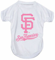 NEW SAN FRANCISCO GIANTS PET DOG PINK PERFORMANCE T-SHIRT ACTIVE TEE ALL SIZES