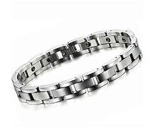 Fashion Men's 11mm titanium steel magnetic stone bracelet boy birthday bangle