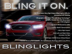 Ford Taurus LED DRL Head Light Strips Kit Day Time Running Lamp Pair Driving Set
