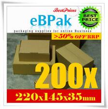 200x Mailing Box 220x145x35mm BX6 SIZE DVD CD MAILER