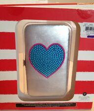 Window Phone Case Wristlet Silver & Turquoise Card & Window Slots Inside NWT