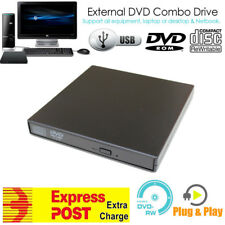 External USB DVD-ROM CD Disc Player Reader Drive 4 Windows 7 8 10 Linus Mac OS