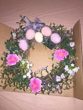 """Avon Sign of Spring Lighted Wreath 10""""D"""