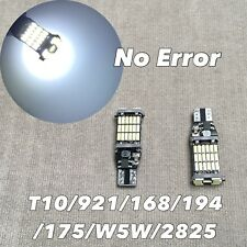 Parking Light T10 SMD LED Wedge BULB 194 175 2825 168 921 W5W 6000K WHITE W1 E
