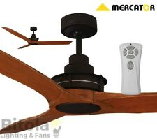 """NEW MERCATOR FLINDERS OIL RUBBED BRONZE/ALDER CEILING FAN WITH REMOTE 1400mm 56"""""""