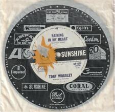 TONY WORSLEY (OZ 45 '66) RAINING IN MY HEART b/w KNOCKING ON WOOD - SUNSHINE