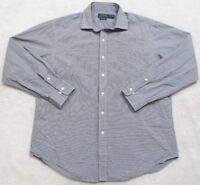 Ralph Lauren Polo Dress Shirt Gray 17 34/35 Classic Fit Men's Long Sleeve 1-53