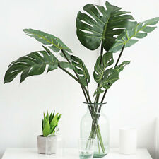 12Pcs Artificial Tropical Palm Leaf Fake Green Plant for Home Living Room Decor