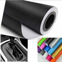 "12""x50"" 3D Carbon Fiber Matte Vinyl Film Auto Car Sheet Wrap Sticker Decor Black"