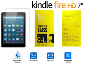 """Genuine 9D Tempered Glass Screen Protector HD For AMAZON KINDLE FIRE 7"""" (2017)"""