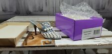 Just The Right Shoe By Raine frosted fantasy 25032 blue rhinestones pearls