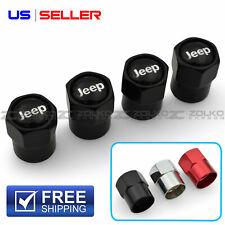 Valve Stem Caps Wheel Tire For Jeep 4Pc 3 Color Option - Hx22 Hx24