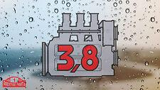 Porsche 911 3.8 engine window sticker - Retro 2.2 style rear screen decal