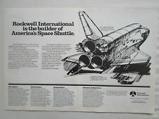 3/1981 PUB ROCKWELL NASA SPACE SHUTTLE COLUMBIA NAVETTE SPATIALE ORIGINAL AD