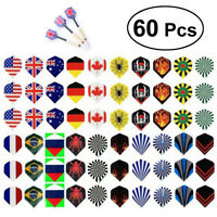 60pcs Professional Popular Pattern Nice Darts Tail Flights Wing Mixed Style