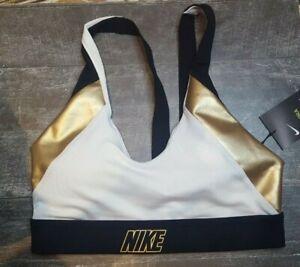 Nike Indy Women's Light-Support Padded Metallic Sports Bra CT6710 Small size S