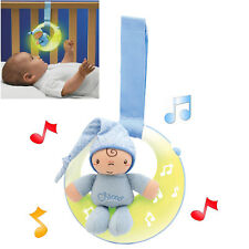 NEW CHICCO BLUE GOODNIGHT MOON MUSICAL BABY NIGHTLIGHT SOOTHING TOY FROM BIRTH