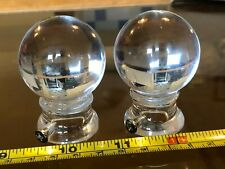 Transparent Ball Design Gorgeous Curtain Rail Finials Pair Argos New