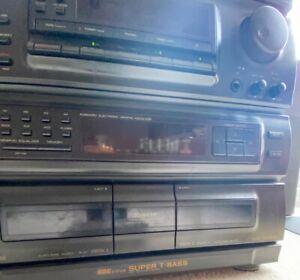 Aiwa Cx-Z800 Vintage Multi Media Stereo CD Tape Deck Record Player + Speakers