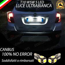 COPPIA LUCI TARGA LED OPEL MOKKA X RESTYLING W5W CANBUS NO AVARIA 6000K BIANCO