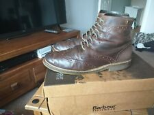 Mens Barbour Belsay CHOCO  Brogue Ankle Boots Size 9(43).