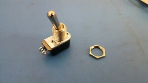 Toggle Switch SPST ON-OFF, 125V 6A Solder Lug Panel Mount, Carling 110-73, 2 Pcs