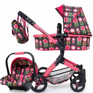 Brand new Cosatto Wonder Dolls pram in Fairy Garden with matching Car seat & bag
