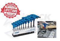 Draper Metric T-Handle Hexagon Hex Allen Key Set 10 Pce INC Stand 2.0 - 10.0mm