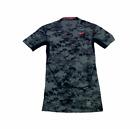 Nike Pro Combat Dri Fit Compression Boys Size S Gray Digital Camo Athletic Shirt