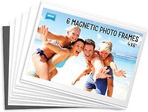6 x Shot2Go Magnetic Photo Fridge Frames (Holds a 6x4 inch photo)