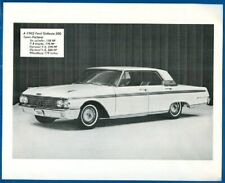 1962 Ford Galaxie 500 Town Victoria , Six Cylinder, V-8 Engine - Photo Print