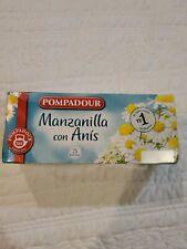 *New* Pompadour Manzanilla con Anis 25 bolsitas. Exp. 10/21