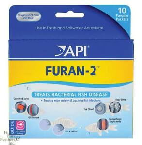 API FURAN-2 Treats Bacterial Fish Diseases FRESHWATER / SALTWATER Aquarium