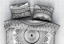 Indian Ombre Mandala Black & White Dyed Art Cushion Cover Pillow Case Sham Throw