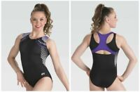 GK Elite Geometric Purple Gymnastics LEOTARD Child & Adult Sizes New With Tags