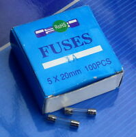 4 Amp 4A T4A 250V 5x20mm Slow Blow Glass Tube Fuse x100