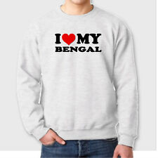 I HEART MY BENGAL Cat Kitten Animal Lovers T-shirt Show Love Crew Sweatshirt