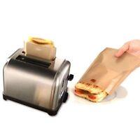 Safety Non Toxic 5PCS Pocket Non Stick Sandwich Reusable Toast Bags Toaster