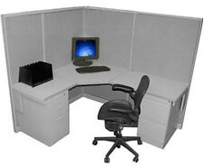 """5x6 53"""" H Herman Miller Call Medium wall Center Cubicle with Paint/Fabric Choice"""