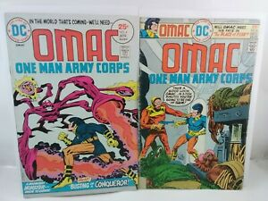 LOT (2) OMAC One Man Army Corps #4 and #8 of 8 1975 DC Comic Books VF