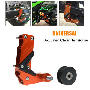 Universal Motorcycle Adjuster Chain Tensioner Antiskid Large Guide Regulator CNC
