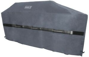 86 in.  BBQ Grill Cover Weather-Resistant Polyester and PVC Blend Cover,  Gray