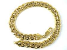 "9"" Curb Link 3.2x8mm 15.92 gm New Bracelet / Anklet 14K Solid Gold Sturdy Hollow"