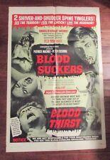 1971 BLOOD SUCKERS / THIRST Original Movie Poster 1-SH 27x40 VG- Horror
