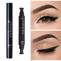 Dual Ended Winged Eyeliner Stamp Pen Waterproof Long Lasting Eye Liner Liquid