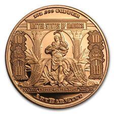 1 Oncia Copper round $10 Bison BANCONOTA 999,99