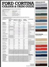 Ford Cortina Mk5 Colour Trim 1982 Uk Market Brochure Base L Gl Crusader Ghia For Sale Online Ebay