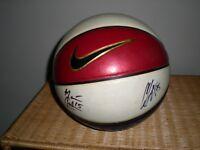 Autographed Signed Basketball Mario Chalmers# 15 Cole Aldrich # 45 KU Nike Ball
